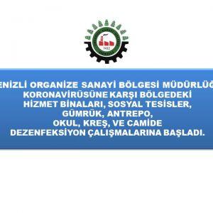 DENİZLİ OSB'DE KORONAVİRÜS ÖNLEMİ