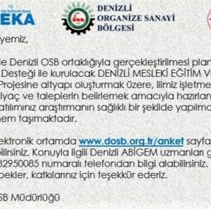"""""""DENİZLİ MESLEKİ EĞİTİM VE TEST MERKEZİ FİZİBİLİTESİ"""""""