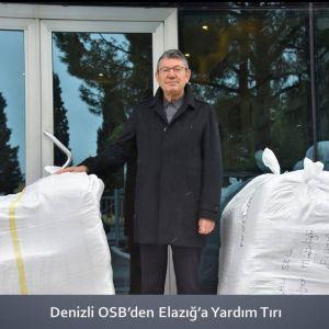 Denizli OSB'den Elazığ'a Yardım Tırı