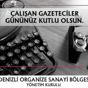 Tüm Gazetecilerimizin 10 Ocak Çalışan Gazeteciler Gününü Kutlar, Çalışmalarında Başarılar Dileriz.