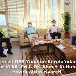 Denizli OSB Yönetim Kurulu'ndan Rektör Vekili Prof. Dr. Ahmet Kutluhan'a hayırlı olsun ziyareti