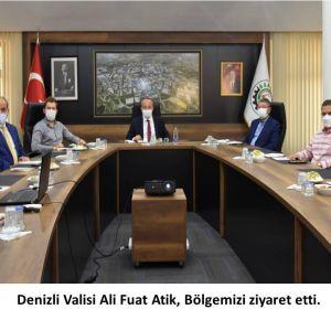 Denizli Valisi Ali Fuat Atik, Bölgemizi ziyaret etti
