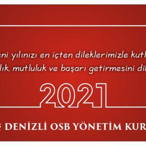 2021 yılının ülkemize ve tüm insanlığa sağlık, mutluluk , huzur  ve başarı getirmesi dileklerimizle.. Yeni Yılınız Kutlu Olsun.